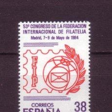Sellos: ESPAÑA EDIFIL 2755*** - AÑO 1984 - CONGRESO DE LA FEDERACION INTERNACIONAL DE FILATELIA . Lote 24165914