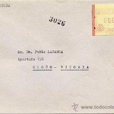 Sellos: CERTIFICADO DE MADRID A VITORIA CON ETIQUETA FRAMA TIPO C1 DE 60 PTS. LLEGADA EL 9.1.90. Lote 27593991