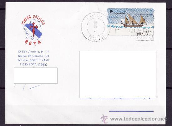TARJETA CIRCULADA ATM BARCOS DE EPOCA EN PESETAS PRECIOSA (Sellos - España - Juan Carlos I - Desde 1.986 a 1.999 - Cartas)