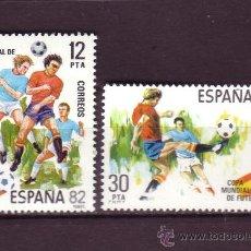 Sellos: ESPAÑA EDIFIL 2613/14*** - AÑO 1981 - CAMPEONATO MUNDIAL DE FÚTBOL DE ESPAÑA. Lote 24441107