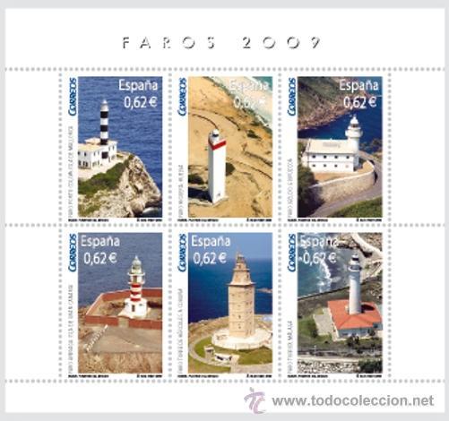 ESPAÑA 2009 - FAROS - BLOCK DE 6 SELLOS - EDIFIL Nº 4483 (Sellos - España - Juan Carlos I - Desde 2.000 - Nuevos)
