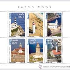 Sellos: ESPAÑA 2009 - FAROS - BLOCK DE 6 SELLOS - EDIFIL Nº 4483. Lote 288153518