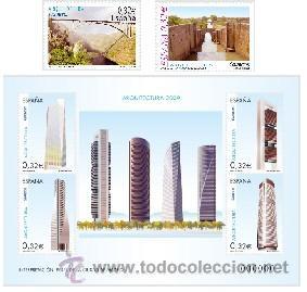 ESPAÑA 2009 - ARQUITECTURA 2009 - 2 SELLOS + BLOCK - EDIFIL Nº 4505-4506-4507 (Sellos - España - Juan Carlos I - Desde 2.000 - Nuevos)