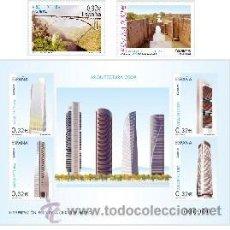 Sellos: ESPAÑA 2009 - ARQUITECTURA 2009 - 2 SELLOS + BLOCK - EDIFIL Nº 4505-4506-4507. Lote 48188548