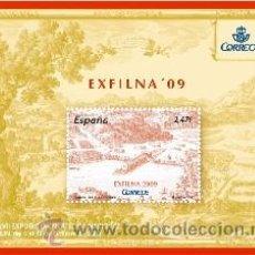 Sellos: ESPAÑA 2009 - EXFILNA 2009. IRÚN - BLOCK - EDIFIL Nº 4512. Lote 288153248