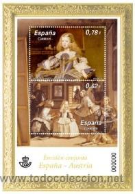 ESPAÑA 2009 - PINTURA. EMISIÓN CONJUNTA ESPAÑA-AUSTRIA - BLOCK - EDIFIL Nº 4519 (Sellos - España - Juan Carlos I - Desde 2.000 - Nuevos)