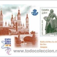 Sellos: ESPAÑA 2008 - EXPO 2008. ZARAGOZA - EL PILAR Y GOYA - EDIFIL Nº 4422. Lote 288152813
