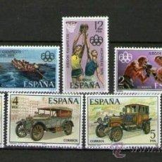 Sellos: LOTE DE 8 SELLOS NUEVOS DE ESPAÑA: DEPORTES Y COCHES ANTIGUOS - AÑOS 1976-1977. Lote 40762812