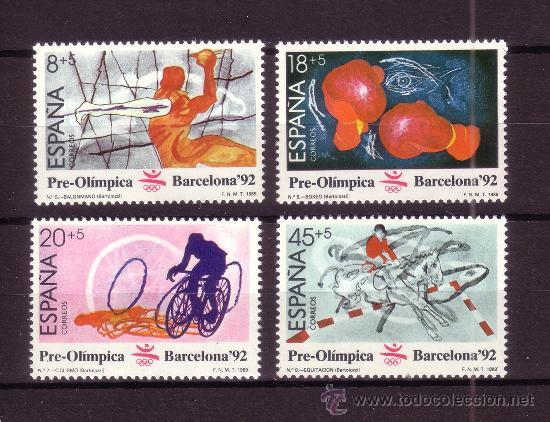 ESPAÑA 2994/97** - AÑO 1989 - JUEGOS OLIMPICOS DE BARCELONA (Sellos - España - Juan Carlos I - Desde 1.986 a 1.999 - Nuevos)