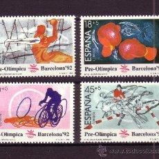 Sellos: ESPAÑA 2994/97** - AÑO 1989 - JUEGOS OLIMPICOS DE BARCELONA. Lote 122977272