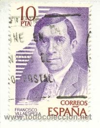 1U-2514. SELLO USADO ESPAÑA. EDIFIL Nº 2514. 10 PTAS. FRANCISCO VILLAESPESA (Sellos - España - Juan Carlos I - Desde 1.975 a 1.985 - Usados)