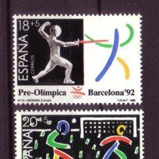 Sellos: ESPAÑA 3025/27** - AÑO 1989 - SERIE PRE OLÍMPICA - JUEGOS OLÍMPICOS DE BARCELONA 92. Lote 122977336