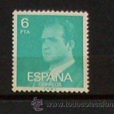 Sellos: 1 SELLO JUAN CARLOS - ESPAÑA - 6 PTA - USADO SIN MATASELLO. Lote 27299309