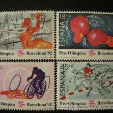 Sellos: ESPAÑA 1989 EDIFIL 2994/7 *** JUEGOS OLÍMPICOS DE BARCELONA - DEPORTES. Lote 27649460