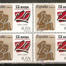 Sellos: ESPAÑA LA RIOJA EDIFIL NUM. 4461 ** SERIE COMPLETA EN BLOQUE DE 4 SELLOS. Lote 30577795