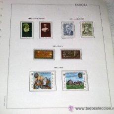 Sellos: EDIFIL EUROPA HOJA DE ALBUM SELLOS Nº 123 LIECHTENSTEIN - LUXEMBURGO - MALTA - MAN. Lote 28149950