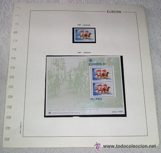 EDIFIL EUROPA HOJA DE ALBUM SELLOS Nº 128 AZORES (Sellos - España - Juan Carlos I - Desde 1.975 a 1.985 - Usados)