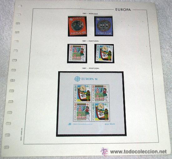 EDIFIL EUROPA HOJA DE ALBUM SELLOS Nº 135 NORUEGA - PORTUGAL 1981 (Sellos - España - Juan Carlos I - Desde 1.975 a 1.985 - Usados)