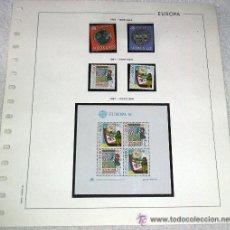Sellos: EDIFIL EUROPA HOJA DE ALBUM SELLOS Nº 135 NORUEGA - PORTUGAL 1981. Lote 28150121