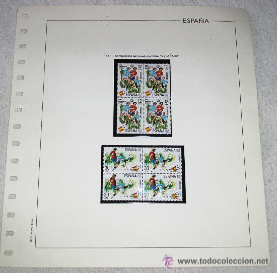EDIFIL ESPAÑA HOJA DE ALBUM SELLOS Nº 364 1981 CAMPEONATO DEL MUNDO DE FUTBOL ESPAÑA 82 (Sellos - España - Juan Carlos I - Desde 1.975 a 1.985 - Usados)