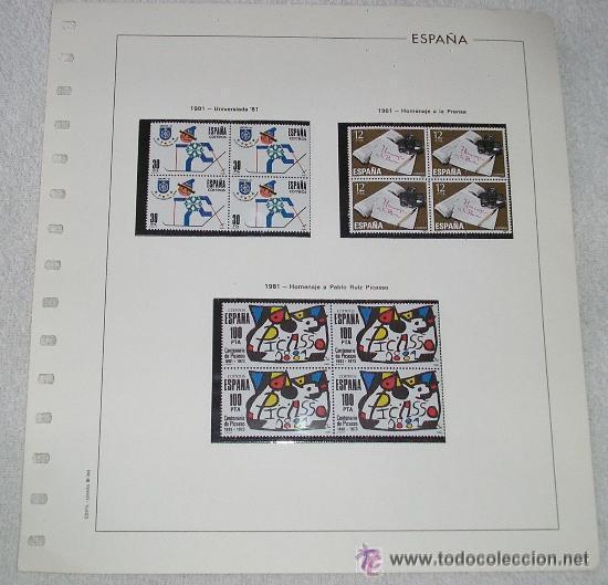 EDIFIL ESPAÑA HOJA DE ALBUM SELLOS Nº 363 1981 UNIVERSIADA 81 H. A LA PRENSA H. A PABLO PICASSO (Sellos - España - Juan Carlos I - Desde 1.975 a 1.985 - Usados)