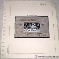 Sellos: EDIFIL ESPAÑA HOJA DE ALBUM SELLOS Nº 371 1981 EL GUERNICA EN ESPAÑA Nº 1048230. Lote 28150574
