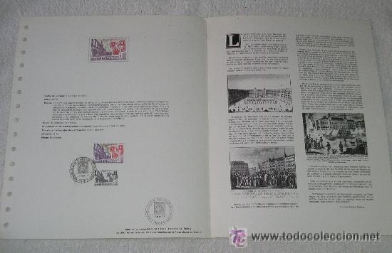 Sellos: HOJA ALBUM DOBLE SELLOS 50 ANIVERSARIO DEL MERCADO FILATELICO PLAZA MAYOR - MADRID - X FERIA NACIONA - Foto 2 - 28151037