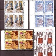 Sellos: ESPAÑA***.AÑO 1990.EDIFIL NR.3069/3072.CENTENARIOS.BLOQUES DE 4.. Lote 28185179