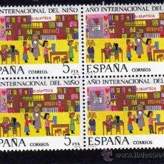 Sellos: AÑO INTERNACIONAL DEL NIÑO - EDIFIL 2519 - BLOQUE DE CUATRO. . Lote 30578421