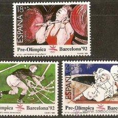 Sellos: ESPAÑA NUMERO 3054/6 BARCELONA'92 SERIE COMPLETA NUEVA SIN FIJASELLOS. Lote 29587490