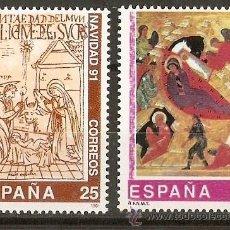 Sellos: ESPAÑA NUMERO 3142/3 SERIE COMPLETA NUEVA SIN FIJASELLOS. Lote 151218804
