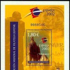 Sellos: ESPAÑA 2002 EDIFIL 3878 SELLO ** HB EXPOSICIÓN MUNDIAL DE FILATÉLIA JUVENIL SALAMANCA 1,80€ SPAIN. Lote 30373053