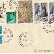 Sellos: SOBRE Y SELLOS MATASELLADOS 28-02-02 S C DE TENERIFE. Lote 30405442
