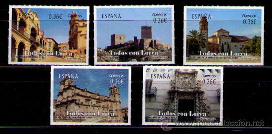 ESPAÑA 2012 - TODOS CON LORCA - EDIFIL Nº 4691-4695 (Sellos - España - Juan Carlos I - Desde 2.000 - Nuevos)