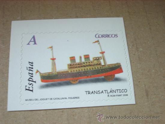 EDIFIL 4368 JUGUETES 2008 NUEVO TARIFA A (Sellos - España - Juan Carlos I - Desde 2.000 - Nuevos)