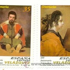 Sellos: 199-3658/9. SERIE ESPAÑA NUEVA. EDIFIL Nº 3658/9. ANIV. DIEGO VELAZQUEZ. Lote 30529465
