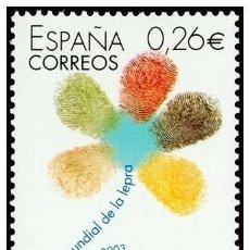 Sellos: ESPAÑA 2003 EDIFIL 3959 SELLO ** DIA MUNDIAL DE LA LEPRA MARGARITA LOGO 0,26€ SPAIN STAMPS TIMBRE. Lote 30779601