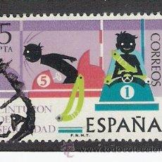 Sellos: 1976 ESPAÑA - SEGURIDAD VIAL - USADO - EDIFIL 2314. Lote 30846577