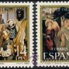 Sellos: ESPAÑA 1982 EDIFIL 2681/2 SELLOS ** NAVIDAD ADORACION REYES MAGOS Y HUIDA A EGIPTO COMPLETA SPAIN . Lote 31061084