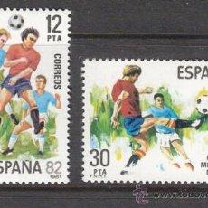 Sellos: ESPAÑA 1981 - COPA MUNDIAL DE FUTBOL ESPAÑA '82 - EDIFIL 2613 / 14 ***. Lote 31189714