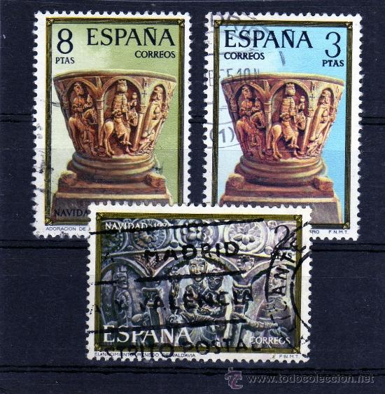 ++ ESPAÑA / SPAIN / SERIE COMPLETA AÑO 1974 YVERT NR.1895/97 USADA NAVIDAD (Sellos - España - Juan Carlos I - Desde 2.000 - Usados)