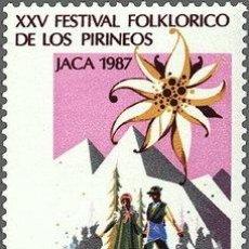 Sellos: ESPAÑA 1987 EDIFIL 2910 SELLO ** XXV FESTIVAL FOLKLORICO DE LOS PIRINEOS JACA TIMBRE ESPAGNE SPAIN. Lote 31653976