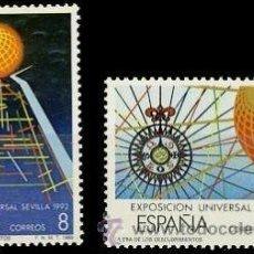 Sellos: ESPAÑA 1988 EDIFIL 2939/40 SELLOS ** EXPOSICIÓN UNIVERSAL DE SEVILLA EXPO'92 MICHEL 2818/9 YV 2553/4. Lote 255943360