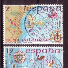 Sellos: ESPAÑA 2622/23 - AÑO 1981 - ESPAÑA INSULAR - CANARIAS Y BALEARES - MAPAS ANTIGUOS. Lote 31951892
