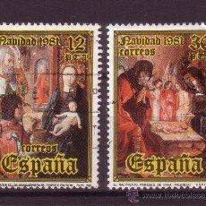 Sellos: ESPAÑA 2633/34 - AÑO 1981 - NAVIDAD - ARTE - PINTURA - JUAN DE FLANDES. Lote 31952134