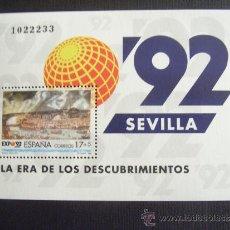 Sellos: ESPAÑA Nº EDIFIL 3191, Nº YVERT HB 49*** AÑO 1992 EXPO 92 SEVILLA .ERA DE DESCUBRIMIENTOS. Lote 132342683