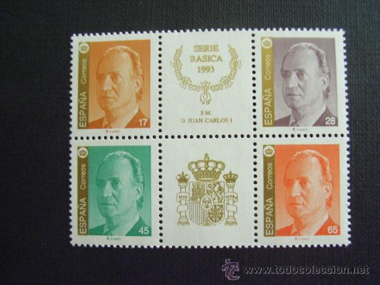 ESPAÑA Nº EDIFIL 3259/2, Nº YVERT 2853/6*** AÑO 1993.SERIE BASICA. REY JUAN CARLOS I (Sellos - España - Juan Carlos I - Desde 1.986 a 1.999 - Nuevos)