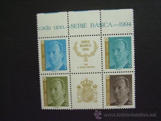 ESPAÑA Nº EDIFIL 3305/8, *** AÑO 1994. SERIE BASICA. REY JUAN CARLOS I, SIN VIÑETA CENTRAL (Sellos - España - Juan Carlos I - Desde 1.986 a 1.999 - Nuevos)