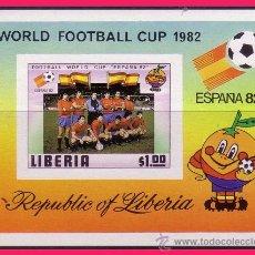 Sellos: 1982 FÚTBOL MUNDIAL ESPAÑA´82, LIBERIA 1 $ . Lote 32171473