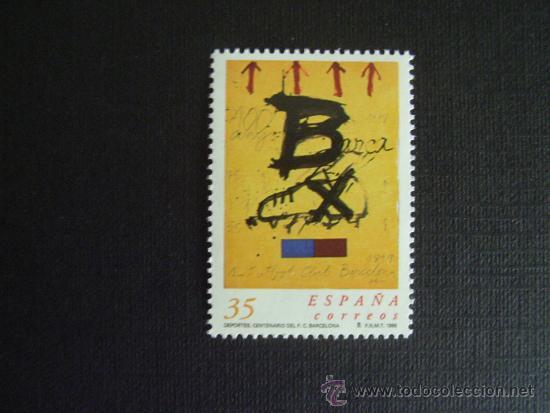 ESPAÑA Nº EDIFIL 3621, Nº YVERT 3183*** AÑO 1999. FUTBOL. CENTENARIO DEL F.C.BARCELONA (Sellos - España - Juan Carlos I - Desde 1.986 a 1.999 - Nuevos)